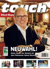 Billardmagazin Touch - Ausgabe 32 - ab Mitte August 2017 erhältlich mit Beiheft Karambol-EM Brandenburg 2017