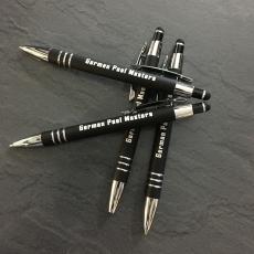 Kugelschreiber mit Touchscreendrücker (Mine:schwarz)